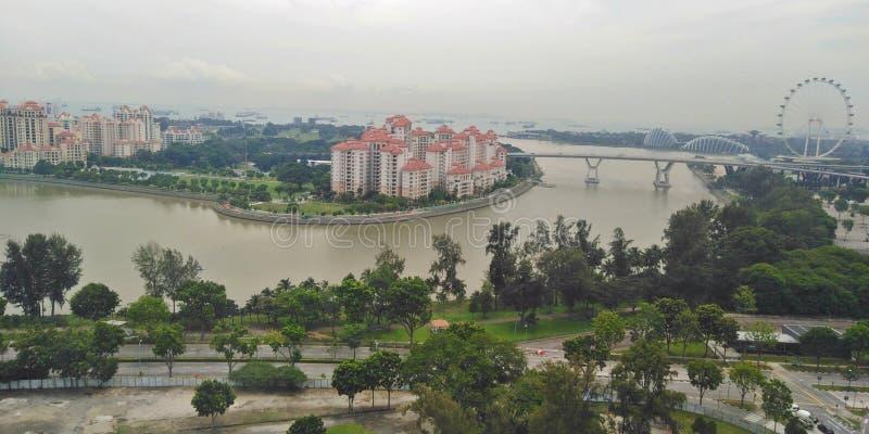 De huisvesting van de waterkant | Singapore royalty-vrije stock fotografie