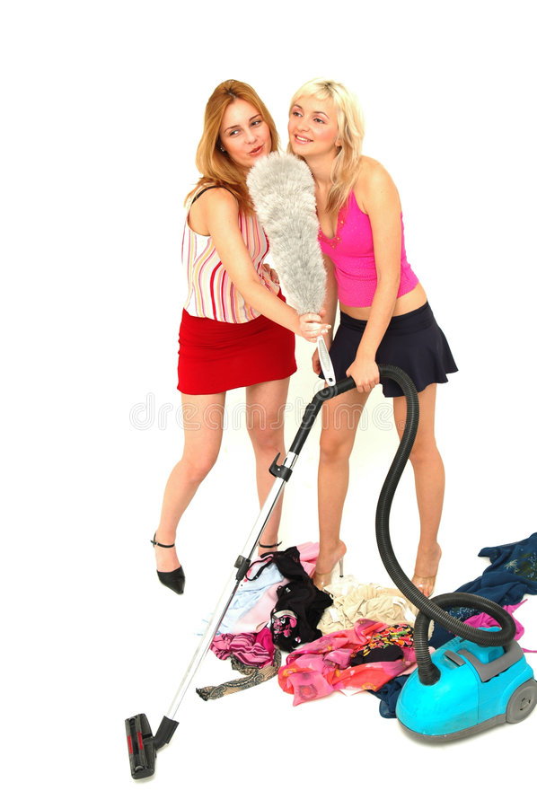 De huisvrouw modelleert 1 stock foto's
