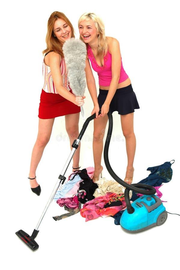 De huisvrouw modelleert 2 stock afbeelding