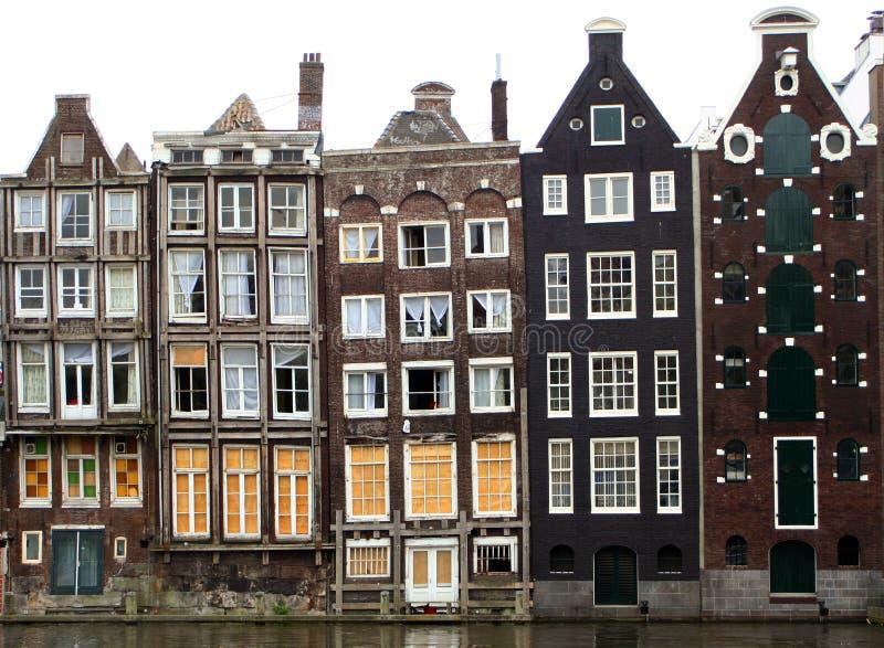 De huizen van Amsterdam royalty-vrije stock afbeeldingen