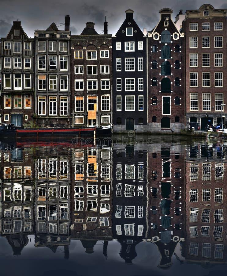De Huizen van Amsterdam royalty-vrije stock afbeelding