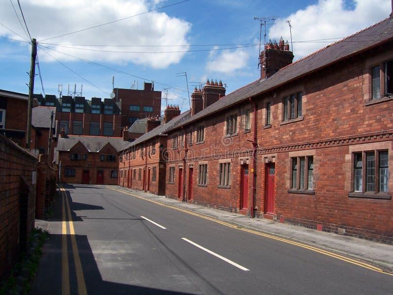 De huizen van arbeiders stock afbeelding