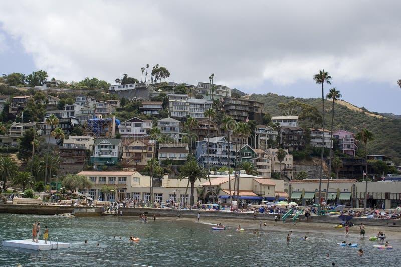 de huizen van Catalina royalty-vrije stock fotografie