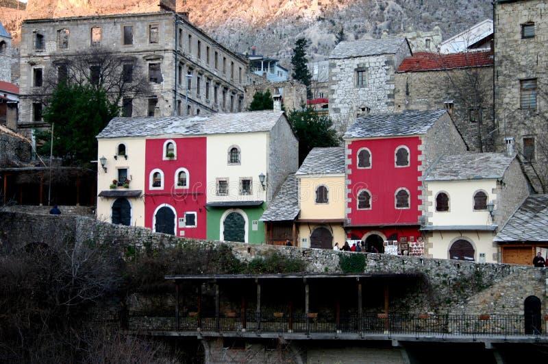 De huizen van Colorfull royalty-vrije stock afbeeldingen