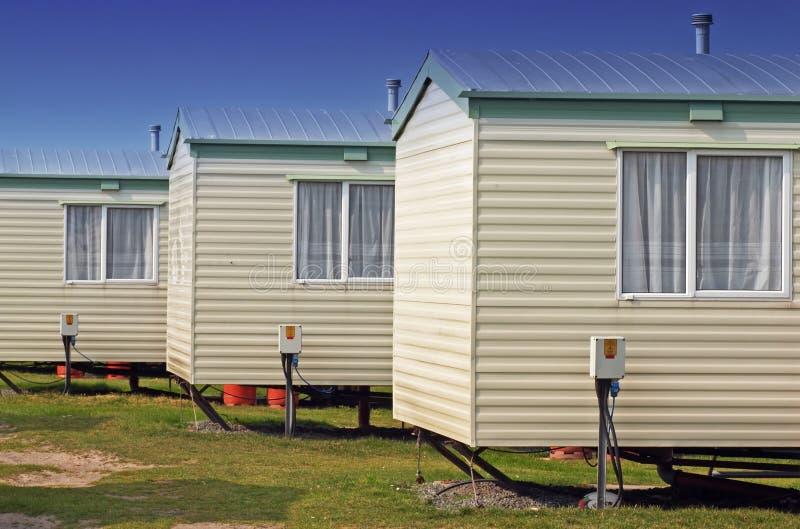 De huizen van de aanhangwagen stock afbeelding