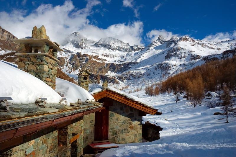 De huizen van de berg royalty-vrije stock foto