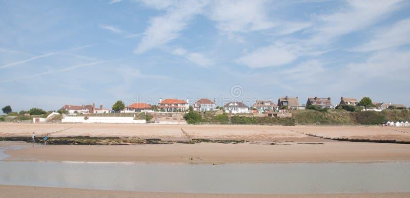 De Huizen van de kust stock foto