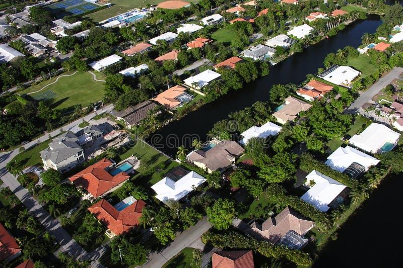 De Huizen van de Waterkant van Miami royalty-vrije stock foto's