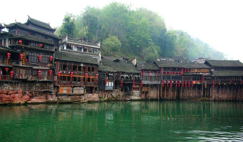 De huizen van Diaojiao in oude stad royalty-vrije stock foto's