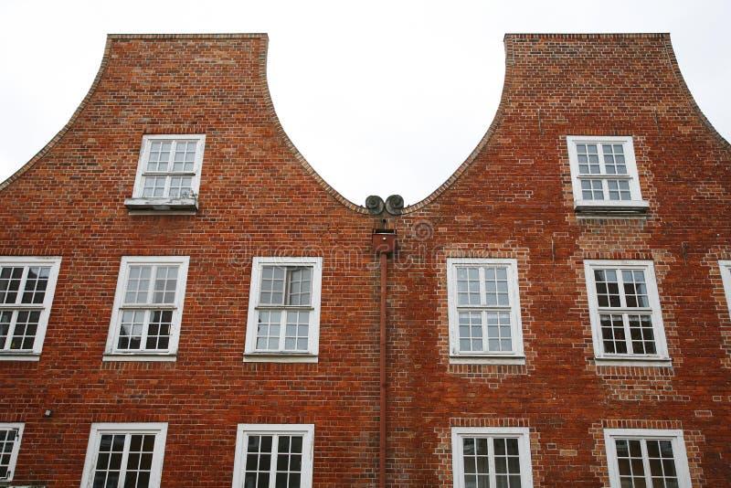 De huizen van Duch - Potsdam stock afbeeldingen