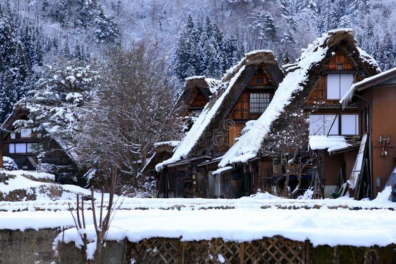 De huizen van Gasshozukuri royalty-vrije stock afbeelding
