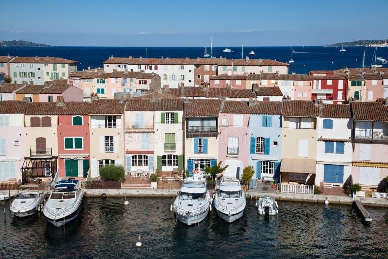 De huizen van havengrimaud royalty-vrije stock afbeelding