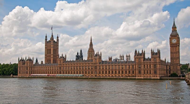 De huizen van het Parlement, Londen stock foto