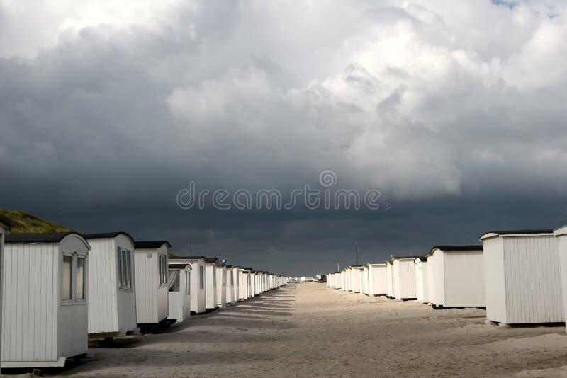 De huizen van het strand royalty-vrije stock afbeelding