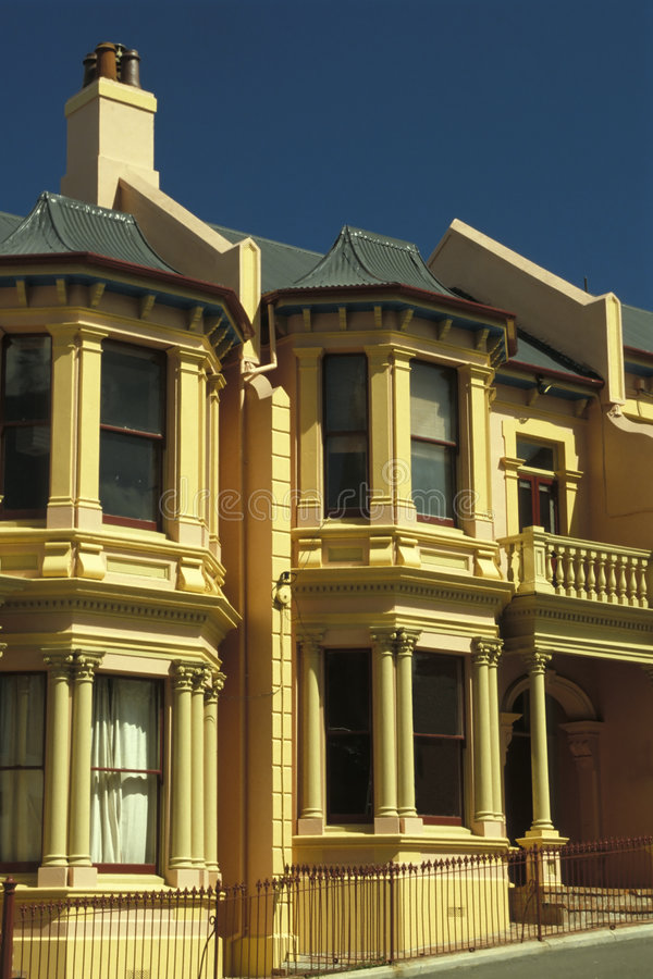 De Huizen van het terras stock fotografie