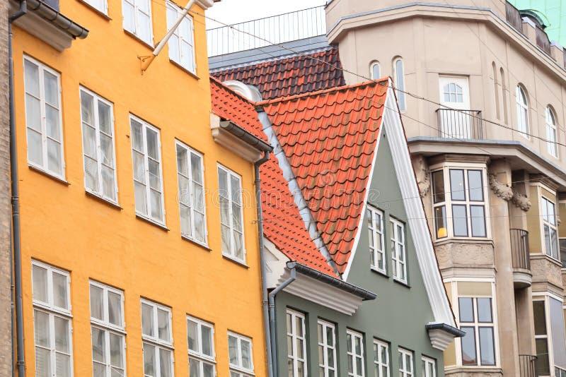 De Huizen van Kopenhagen royalty-vrije stock afbeelding