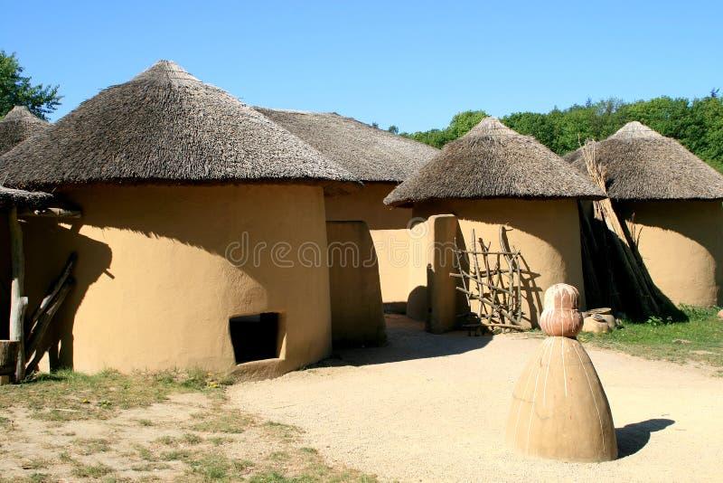 De huizen van Kusasi van Ghana stock foto