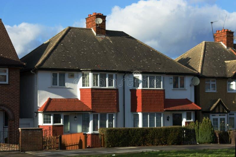 De huizen van Londen stock foto's