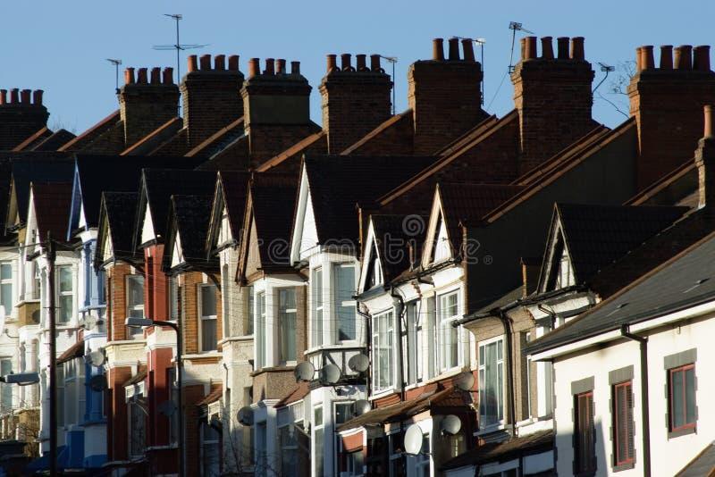 De huizen van Londen royalty-vrije stock afbeeldingen