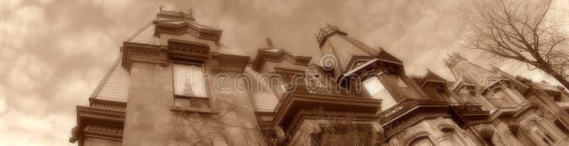De huizen van Montreal stock afbeeldingen