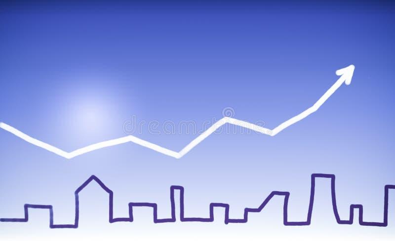 De huizen van onroerende goederen?, Vlakten voor verkoop of voor huur stock illustratie