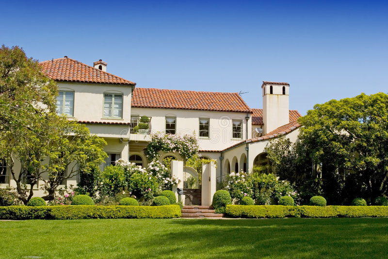 De huizen van San Francisco stock afbeelding