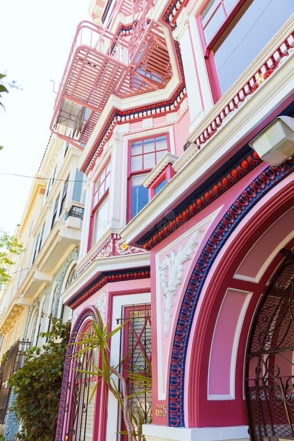 De huizen van San Francisco Victorian in Haight Ashbury Californië royalty-vrije stock foto