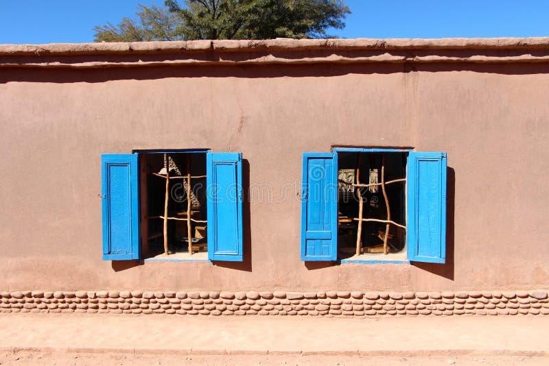 De huizen van San Pedro de Atacama stock foto's