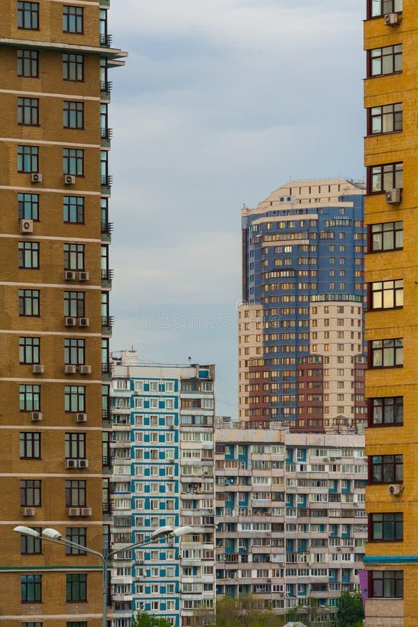 De huizen van de stad royalty-vrije stock foto