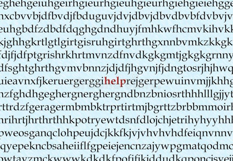 De Hulp van de dyslexie royalty-vrije stock afbeelding