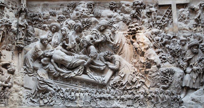 De hulp van het bijbelverhaal Tentoonstellingszaal van Victoria en Albert Museum royalty-vrije stock afbeeldingen