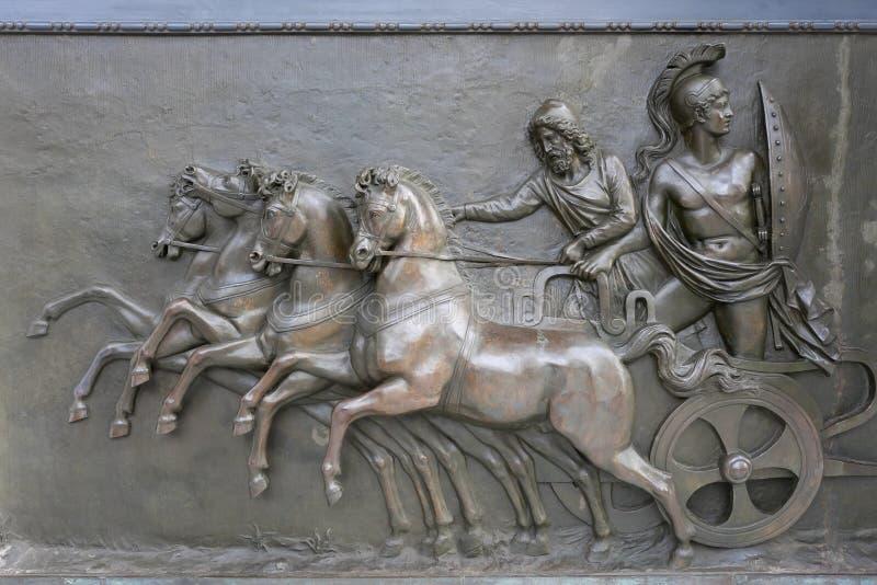 De Hulp van het Brons van het Paleis van Achillion royalty-vrije stock afbeeldingen
