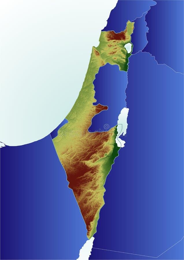 De hulpkaart van Israël royalty-vrije illustratie