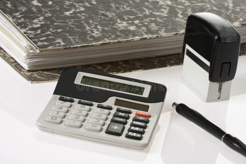 De hulpmiddelen van de boekhouding stock afbeelding