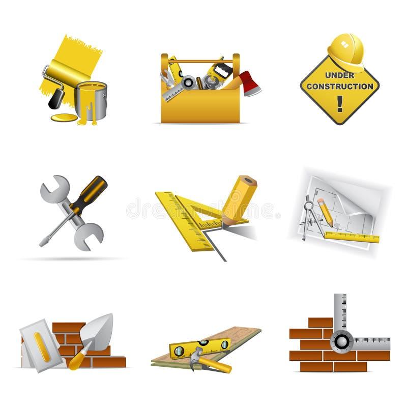 De hulpmiddelen van de bouw