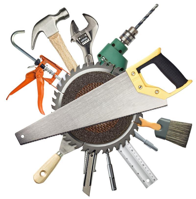 De hulpmiddelen van de bouw stock foto
