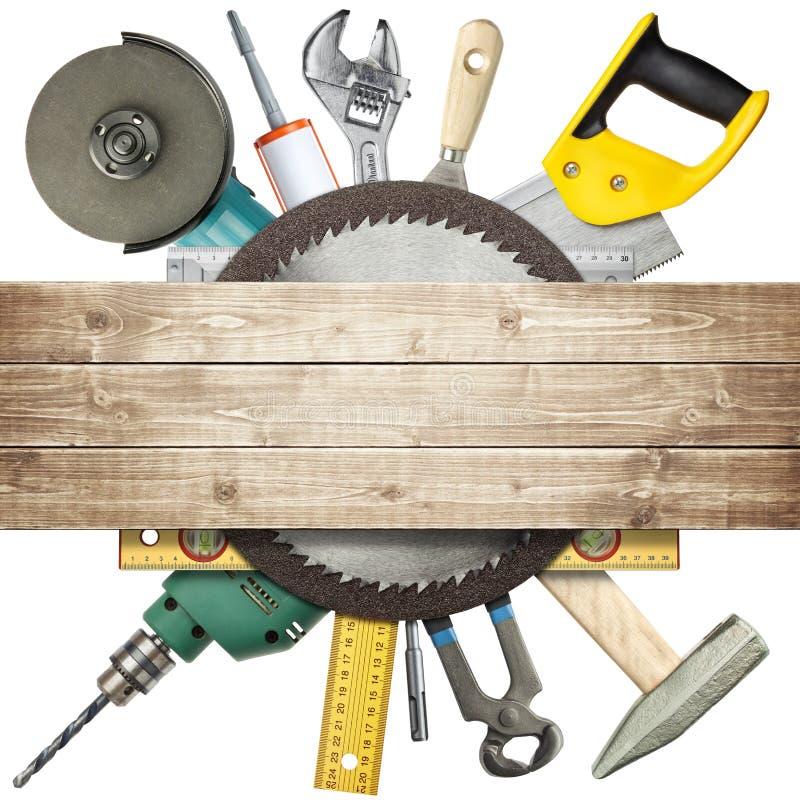 De hulpmiddelen van de bouw stock afbeelding