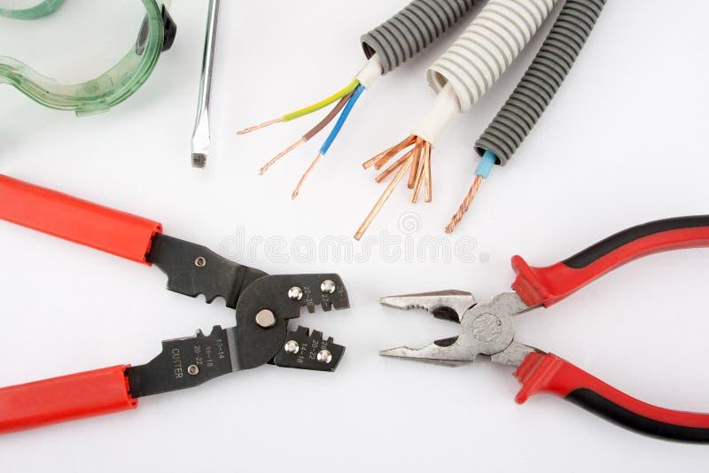 De hulpmiddelen van de elektricien stock fotografie