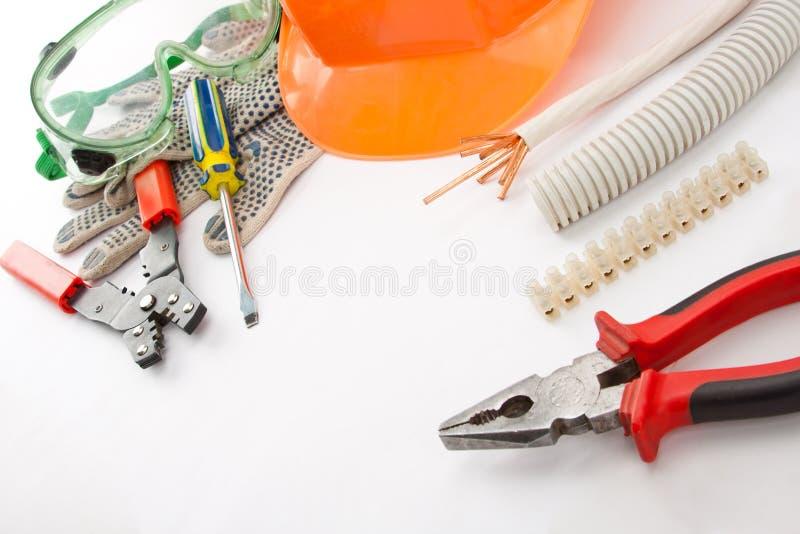 De hulpmiddelen van de elektricien stock afbeeldingen