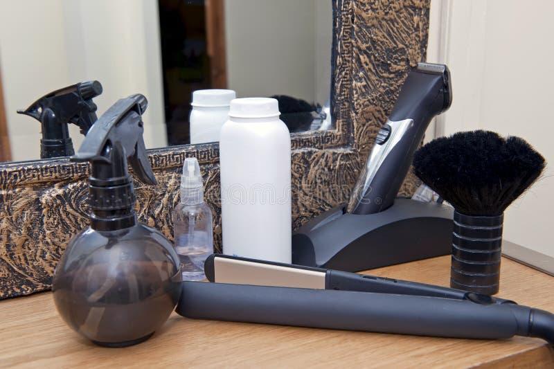 De hulpmiddelen van de kapper stock afbeelding