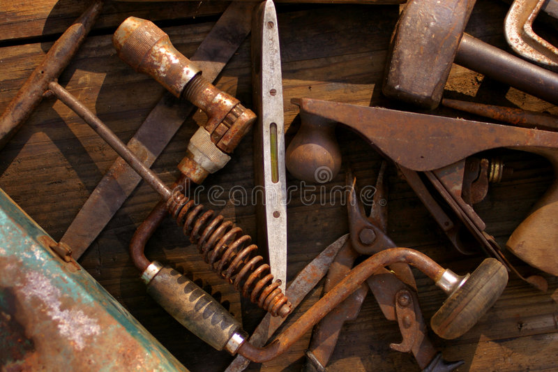 Download De Hulpmiddelen Van De Oude Hand Stock Afbeelding - Afbeelding: 39709