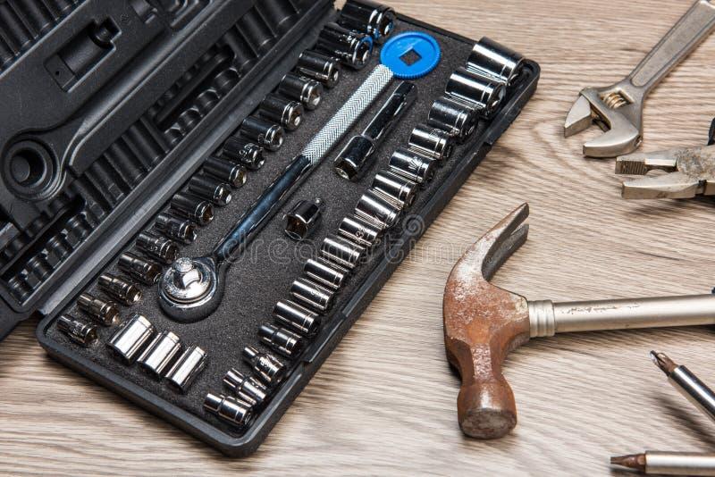 De hulpmiddelen van de reparatie stock fotografie