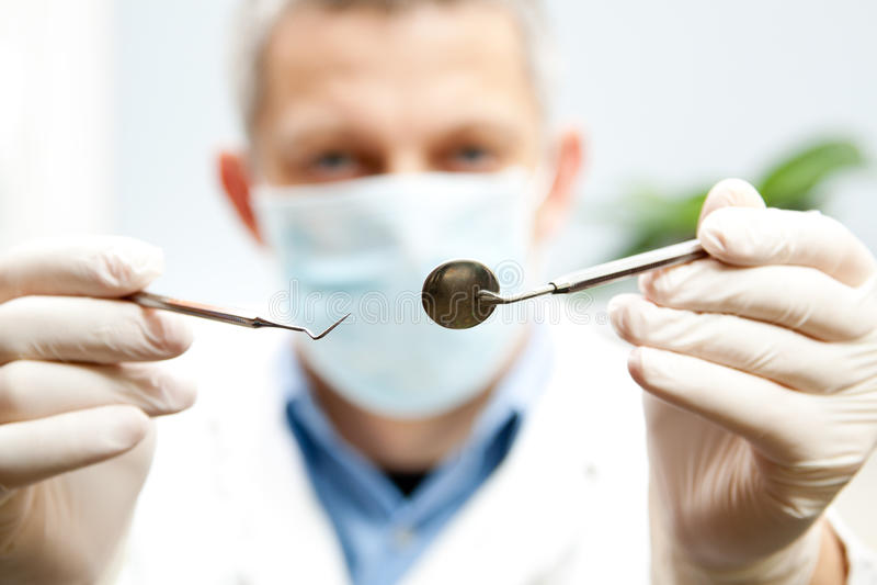 De hulpmiddelen van de tandarts royalty-vrije stock foto