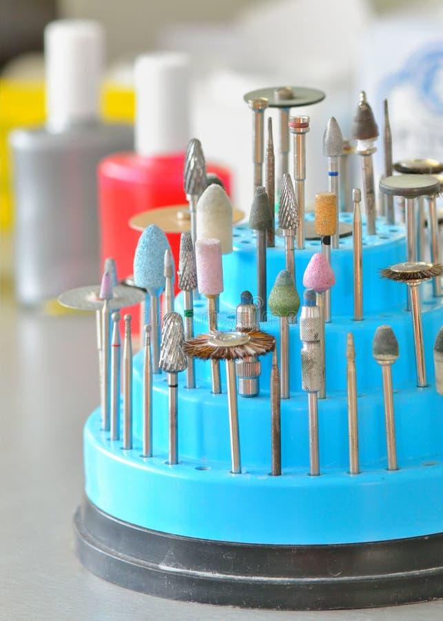 De hulpmiddelen van de tandtechnicus stock afbeeldingen