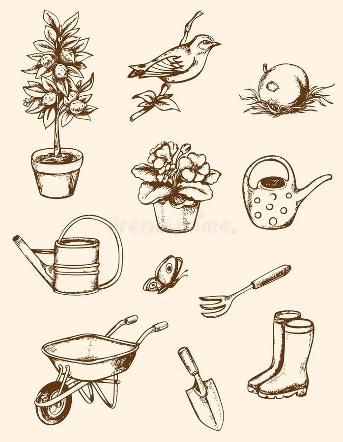De hulpmiddelen van de tuin royalty-vrije illustratie