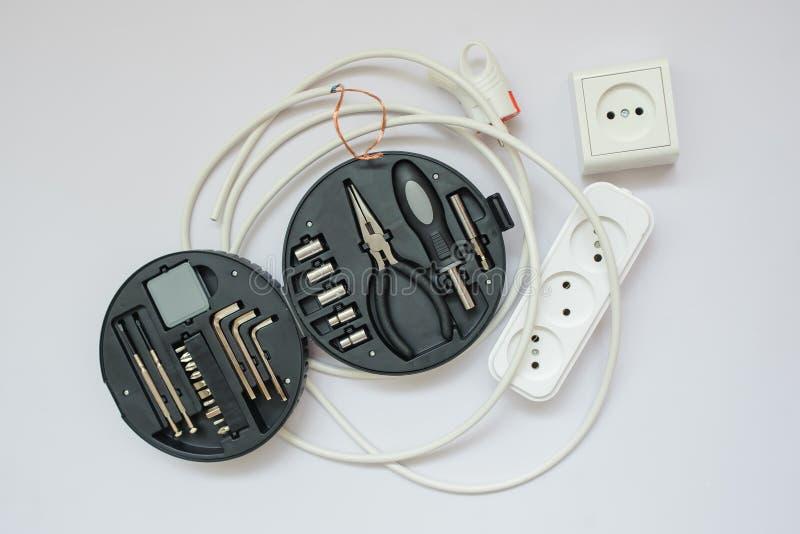 De hulpmiddelen van een elektricien royalty-vrije stock afbeeldingen