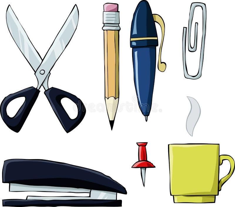 De hulpmiddelen van het bureau royalty-vrije illustratie