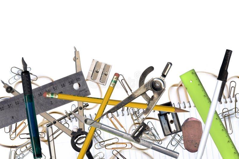 De hulpmiddelen van het bureau stock afbeeldingen