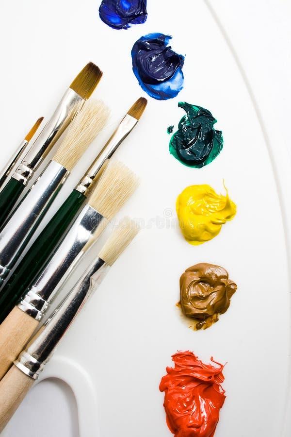 De hulpmiddelen van kunstenaars stock foto's