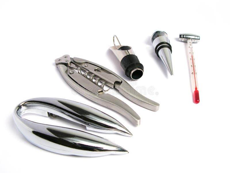 De hulpmiddelen van Sommelier stock foto